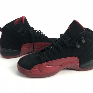 53f7e02fa7993f Nike Shoes - Nike Air Jordan XII Retro 12 Flu Game Black 7Y